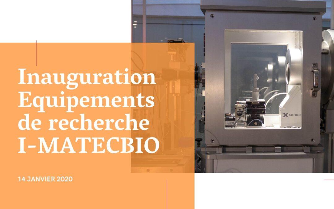 Inauguration équipements de recherche I-MATECBIO
